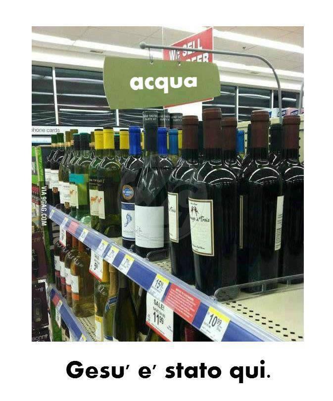 vino e acqua