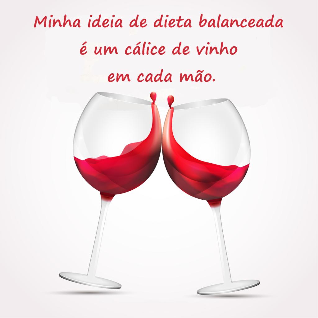 cálices de vinho e dieta equilibrada